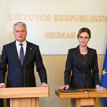 Seimo pirmininkė tikisi, kad G. Nausėda ir T. V. Raskevičius ras būdų sutarti dėl susitikimo