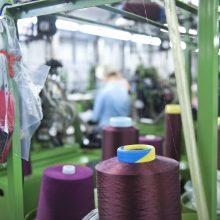 """""""Spartos"""" kojinės eksportui – tik su garsiais prekių ženklais"""