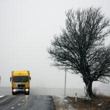 Įspėja: naktį eismo sąlygas gali sunkinti plikledis