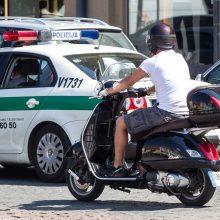 Per eismo įvykį sostinėje nukentėjo 16-metis motorolerio vairuotojas