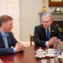 Susitikę G. Nausėda ir R. Karbauskis kalbėjo apie koronaviruso grėsmes