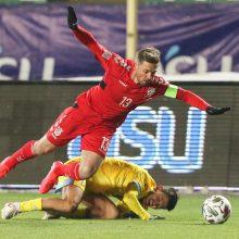 Rekordas: nacionalinės komandos sudėtyje S.Mikoliūnas jau sužaidė 90 rungtynių.