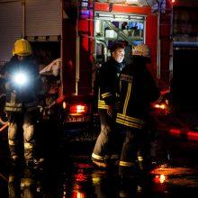 Per gaisrą bute Vilniaus centre nukentėjo moteris