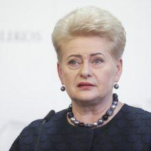 D. Grybauskaitė: valstybės vadovai turi rodyti pavyzdį skiepydamiesi nuo COVID-19
