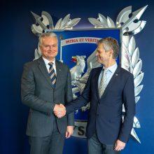 G. Nausėda užsuko į  VSD: pateikė žvalgybos plėtojimo prioritetus