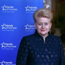 """D. Grybauskaitė pakviesta tapti """"Friends of Europe"""" tarybos nare"""