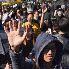 Politinė krizė Honkonge: gyventojai protestuoja jau pusmetį