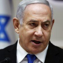 Izraelio premjeras toliau stumia aneksijos planus