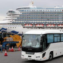 JAV evakuos amerikiečius iš Japonijoje įstrigusio karantinuoto laivo