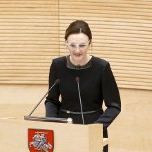 V. Čmilytė-Nielsen: Seimas turėtų tęsti nuotolinį darbą
