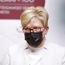 Premjerė atsisako komentuoti planus dėl karantino pokyčių: yra daug siūlymų