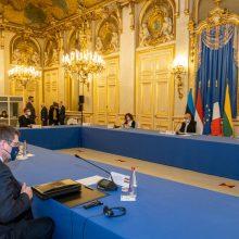 G. Landsbergis su Prancūzijos ir Baltijos šalių ministrais aptarė situaciją Rusijoje