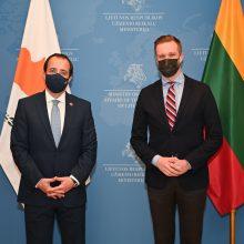 G. Landsbergis susitiko su Kipro ministru: akcentuota europinio solidarumo svarba