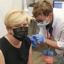 Premjerė ragina vakcinuotis jau dabar: imunitetas nesusidaro iš karto