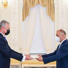 Prezidentas priėmė Armėnijos ambasadoriaus skiriamuosius raštus