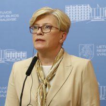Premjerė: ES nenumato tvoros prie Baltarusijos finansavimo, bet šis klausimas keliamas