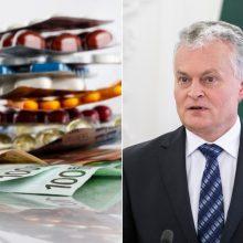 Prezidentas siūlo vaistus kompensuoti daugiau nepasiturinčiųjų