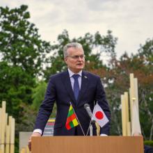 Prezidentas pasveikino Japoniją nacionalinės šventės proga