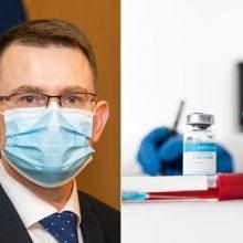 A. Dulkys sureagavo į Prezidentūros kritiką: vakcinų, likusių sandėlyje – nulis