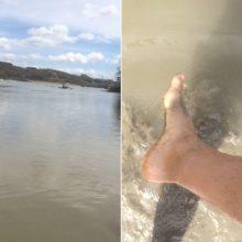 Kaunietis piktinasi: Lampėdžio ežero vanduo juodas – kaip žmonės maudysis?