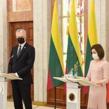 """G. Nausėda Moldovoje kalbėjo ir apie europinį kursą, ir apie """"Euroviziją"""""""