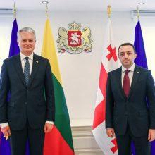 Prezidento susitikime su Sakartvelo vadovais – dėmesys reformoms