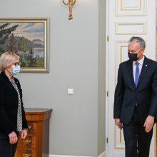 Prezidentas susitiko su švietimo ministre: aptaria mokslus per karantiną (tiesiogiai)