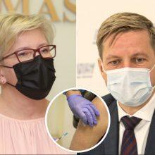 Premjerė atsakė į R. Šimašiaus prašymą dėl vakcinos: bandymas pasilengvinti darbą