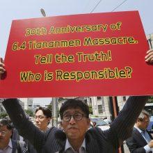 Prie Kinijos ambasados – piketas dėl Tiananmenio žudynių
