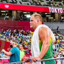 Disko metikas A. Gudžius Tokijo olimpinių žaidynių finale liko šeštas