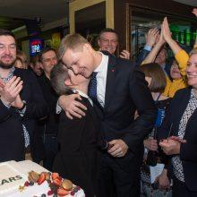 Vilniaus meru perrinktas R. Šimašius: vilniečiai išsirinko ne katę maiše