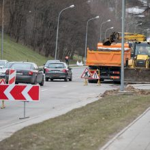 Atnaujinta Olandų gatve vilniečiai galės važiuoti jau balandį