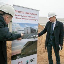 Prasidėjo trijų krepšinio salių komplekso statybos Vilniuje