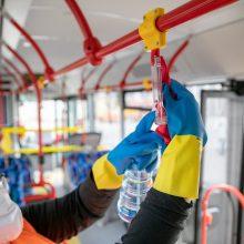 Vilniaus autobusai ir troleibusai bus dezinfekuojami dar dažniau