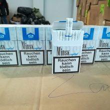 Radviliškio rajone sulaikytas 5 tūkst. pakelių kontrabandinių cigarečių gabenęs vyras