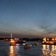 Uostamiestyje – Laivų parado nuotaikos: rikuojasi laivai, šėlsta uosto vilkikai