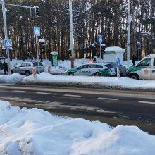 Nelaimė Vilniuje: į ligoninę išvežtas pėsčiųjų perėjoje partrenktas žmogus
