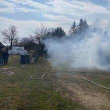 Nelaimė Šilalės rajone: kilus gaisrui beveik visiškai sudegė namas