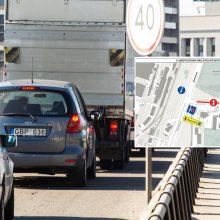 Dėl vandentiekio avarijos sostinėje likvidavimo – laikini eismo pakeitimai