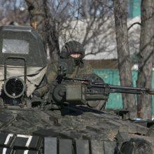 JAV: Rusija prie Ukrainos sienos sutelkusi tiek karių, kiek jų nebuvo nuo konflikto pradžios