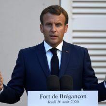"""E. Macronas: Europa """"neis į kompromisą"""" su JAV dėl sankcijų Iranui"""