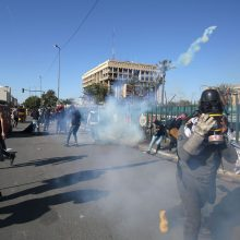Irako sostinėje trys raketos pataikė į JAV ambasados kompleksą