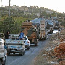 Turkijos pajėgos traukiasi iš stebėjimo posto Sirijoje: taip susitarė su Rusija
