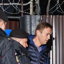 """A. Navalno įkurto """"Kovos su korupcija fondo"""" būstinėje surengta krata"""