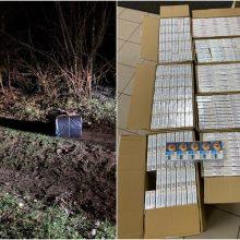 Pasieniečiai sulaikė tris įtariamus kontrabandininkus ir 4 tūkst. pakelių rūkalų