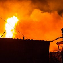 Vilniuje užgesinus gaisrą rastas žmogaus kūnas