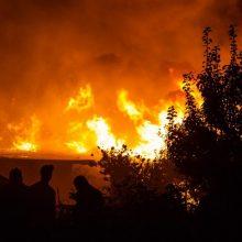 Gaisras Vilkaviškio rajone: pranešta apie degantį ūkinį pastatą