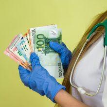 Medikų algoms siūloma skirti dar 75 mln. eurų