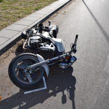 Nelaimė Rokiškio rajone: per avariją nukentėjo motociklo vairuotojas