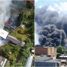 Dėl Vilniuje kilusio gaisro – įspėjimas: pataria vengti buvimo gryname ore, užsidaryti langus